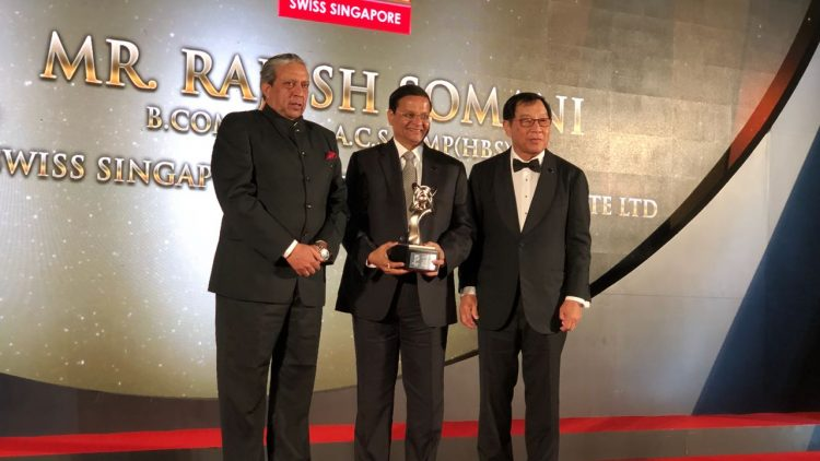 Mr. Rajesh Somani, MD and CEO of Swiss Singapore Overseas Enterprises, bags the Asia Pacific Entrepreneurship Award (APEA) 2018